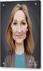 Acrylic Print featuring the digital art Celebrity Sunday - J.k.rowling by Rob Snow