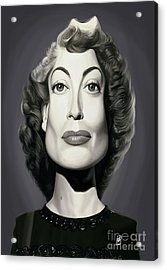 Acrylic Print featuring the digital art Celebrity Sunday - Joan Crawford by Rob Snow
