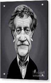 Acrylic Print featuring the digital art Celebrity Sunday - Kurt Vonnegut by Rob Snow