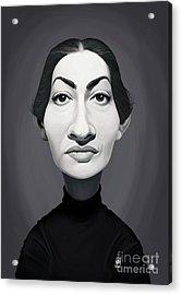 Acrylic Print featuring the digital art Celebrity Sunday - Maria Callas by Rob Snow