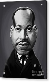 Acrylic Print featuring the digital art Celebrity Sunday - Martin Luther King by Rob Snow