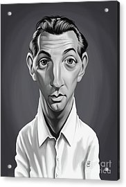 Acrylic Print featuring the digital art Celebrity Sunday - Robert Mitchum by Rob Snow