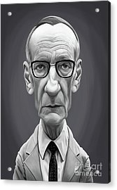 Acrylic Print featuring the digital art Celebrity Sunday - William Burroughs by Rob Snow