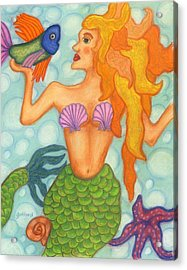 Celeste The Mermaid Acrylic Print