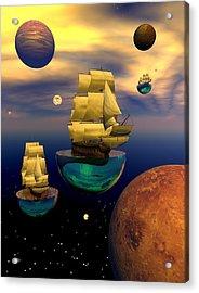Celestial Armada Acrylic Print by Claude McCoy