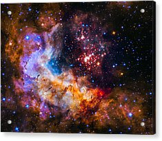 Celestial Fireworks Acrylic Print by Marco Oliveira