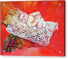 Celestial Grace Acrylic Print by Estela Robles