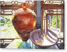 Celestial Hall Pottery I Acrylic Print by Melody Cleary