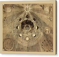 Celestial Map 1710b Acrylic Print by Andrew Fare