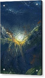 Acrylic Print featuring the painting Celestial by Marilyn Barton