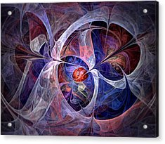 Acrylic Print featuring the digital art Celestial North - Fractal Art by NirvanaBlues