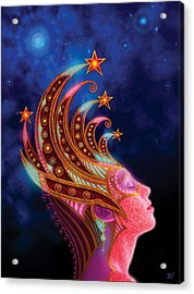 Celestial Queen Acrylic Print by Philip Straub