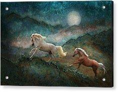 Celestial Stallions Acrylic Print