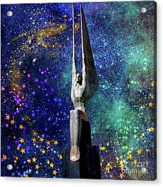 Celestial Winged Figures Of The Republic Acrylic Print