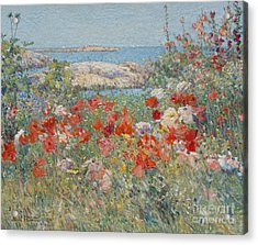 Celia Thaxter's Garden, Isles Of Shoals, Maine, 1890 Acrylic Print