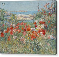 Celia Thaxter's Garden, Isles Of Shoals, Maine Acrylic Print by Childe Hassam