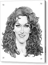 Celine Dion Acrylic Print by Murphy Elliott