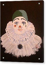 Celine The Clown Acrylic Print by Arlene  Wright-Correll