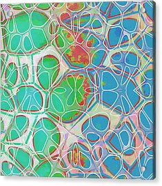 Cell Abstract 10 Acrylic Print by Edward Fielding