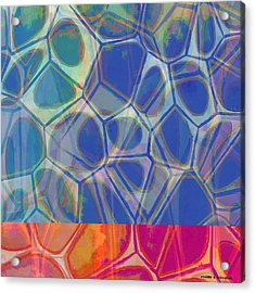 Cell Abstract One Acrylic Print by Edward Fielding