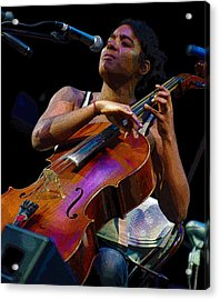Cellist Acrylic Print by Jim Mathis