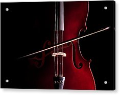 Cello Acrylic Print by Dario Infini