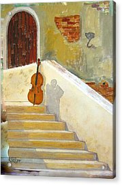 Acrylic Print featuring the painting Cello No 3 by Richard Le Page