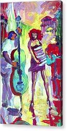 Cello Acrylic Print by Saundra Bolen Samuel