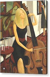 Acrylic Print featuring the painting Cello Solo by Glenn Quist