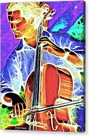 Cello Acrylic Print by Stephen Younts