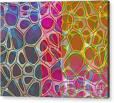 Cells 10 Abstract Painting Acrylic Print