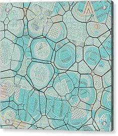 Acrylic Print featuring the digital art Cellules - 04c1 by Variance Collections