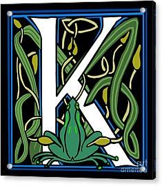 Celt Frog Letter K Acrylic Print