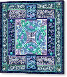 Acrylic Print featuring the mixed media Celtic Atlantis Opal by Kristen Fox