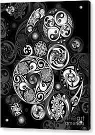 Acrylic Print featuring the mixed media Celtic Clockwork by Kristen Fox