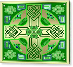 Celtic Clover Knot Acrylic Print by Mike Sexton