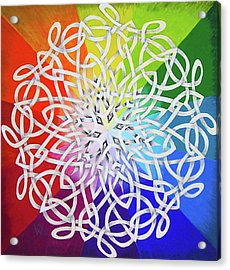 Celtic Color Interlaced 1 Acrylic Print