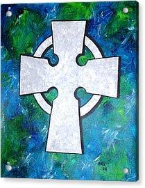 Celtic Cross Acrylic Print by Bo Klinge