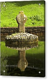 Ancient Celtic Cross At St Patrick Well Acrylic Print
