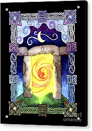 Acrylic Print featuring the painting Celtic Doorway by Kristen Fox