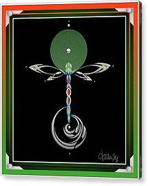 Celtic Dragonfly Acrylic Print