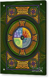 Acrylic Print featuring the mixed media Celtic Elements by Kristen Fox