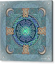 Acrylic Print featuring the mixed media Celtic Eye Of The World by Kristen Fox