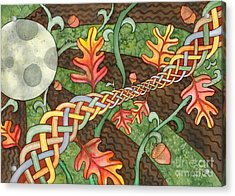 Celtic Harvest Moon Acrylic Print