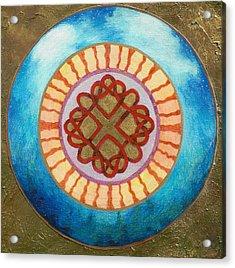 Celtic Heart Knot Mandala Acrylic Print by Jo Thompson