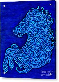 Celtic Horse Acrylic Print by Rebecca Wang