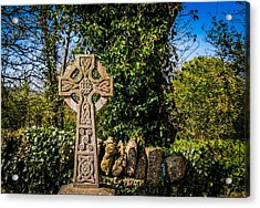 Celtic Knots Decorate A Celtic Cross Acrylic Print