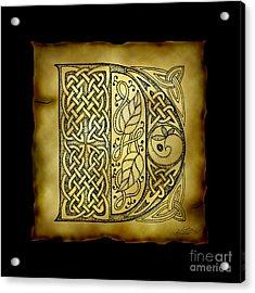 Celtic Letter D Monogram Acrylic Print