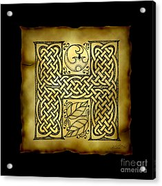 Celtic Letter H Monogram Acrylic Print