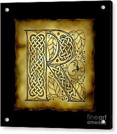 Celtic Letter R Monogram Acrylic Print